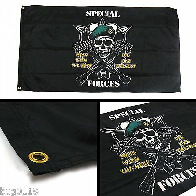 U.S. SF Special Forces Flag 3x5 ft Mess With The Best Die Like the Rest