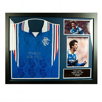 Rangers F.C - Framed Signed Shirt (BRIAN LAUDRUP)