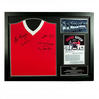 Manchester United F.C - Framed Signed Shirt (BUSBY BABES 1958)