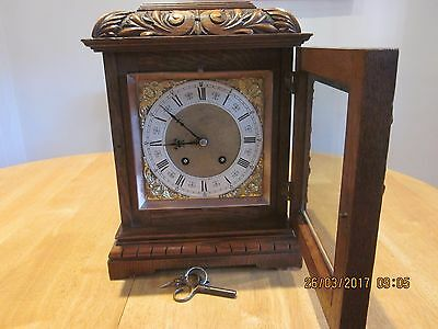 Lenzkirch Bracket oak ting tang carved clock