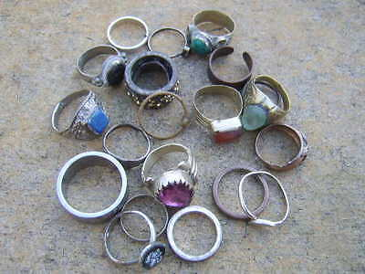 metal detecting finds lot of rings