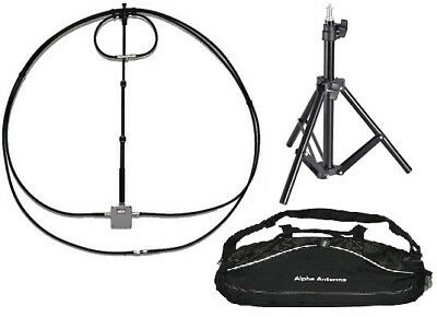 10-80 meter magnetic Alpha Loop antenna with Duffle, Tripod, 6:1 reduction drive