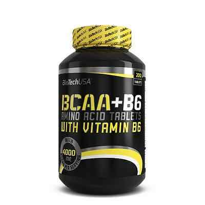 BCAA + B6 200 Tabs Biotech USA Acides Amines Whey Musculation Gains Muscles