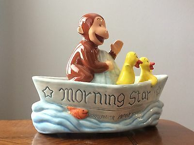 Curious George wind up music box - *** RARE ***  by Vandor-1997