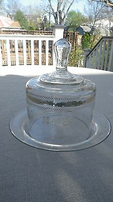 Victorian Hand-blown and Enamel Decorated Glass Domed Covered Dish