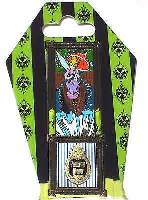 LE Disney Pin✿Tink Tinker Bell Haunted Mansion Phantom Stretching Room Portrait