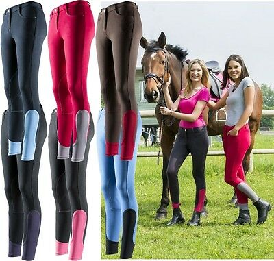 Equi-Theme Pro Fun Line Childs Breeches Two Tone Stretch Material 979060