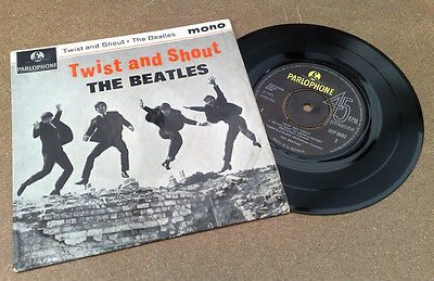 "Beatles "" Twist & Shout ""superb Uk Nm Rare Gramophone Co Rim Text No Polo Rings"