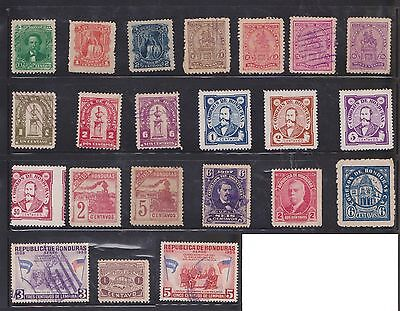 (U22-12) 1893-1970 Honduras mix of 63stamps value to 40c (A)
