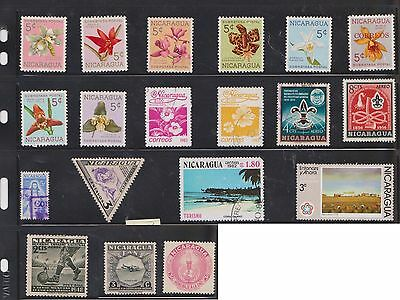 (U22-19) 1940-80 Nicaragua mix of 56stamps value to 3Col (A)