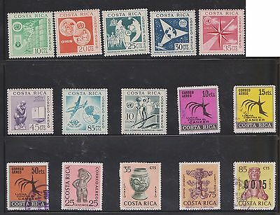 (U22-4) 1940-90 Costa Rico mix of 49stamps value to 50c (D)
