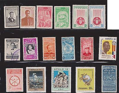 (U22-29) 1930-80 Panama mix of 53stamps value to 35c (G)