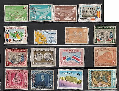 (U22-24) 1936-70 Panama mix of 44 stamps value to 50c (B)