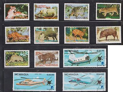 (U22-20) 1980s Nicaragua mix of 23stamps value to 24Col (B)