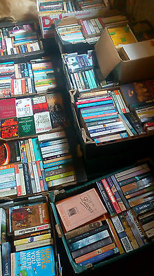 Eleven Mixed Boxes of Used Paperback and Hardback Books Fund Raising Car Boot