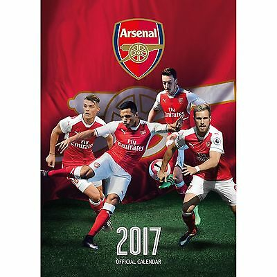 Arsenal Fc Official 2017 Calendar - Rare - Large Size A3 - Football, The Gunners