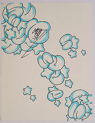 Seen - Signed Original Graffiti Bubble Drawing - Not A Print - Cope2 & Banksy