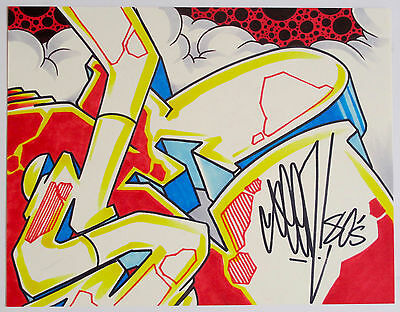 Seen - Signed Original Graffiti Wildstyle Drawing - Not A Print - Cope2 & Banksy
