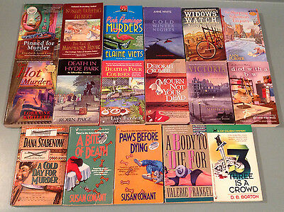 Lot of 17 Mystery novels - various authors, suspense paperback books - listed!