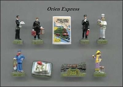 New Amazing Miniature Porcelain, The Orient Express Train, Hercule Poirot