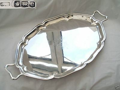 Rare George V Hm Sterling Silver 2 Handled Tray 1922