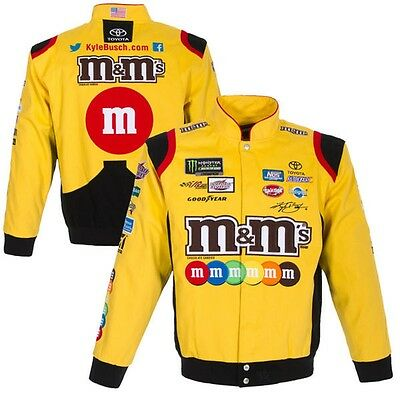 2017 Size L Nascar Kyle Busch M&M Cotton Uniform Yellow Jacket JH Design L