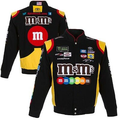 2017 Size L Nascar Kyle Busch M&M Cotton Black Jacket JH Design LG