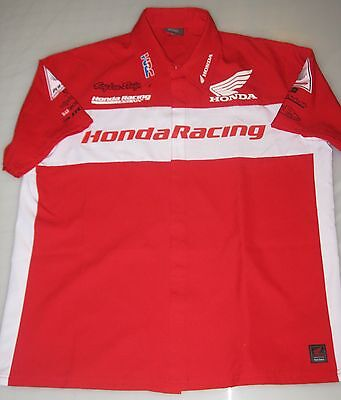 '15 TEAM HONDA HRC RACING EMPLOYEE ISSUE ONLY PIT SHIRT L troy lee supercross mx