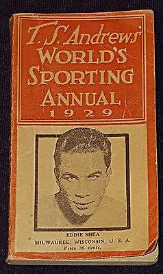 1929 - T.s. Andrew's - World's Sporting Annual - Boxing & Other Sports -Original