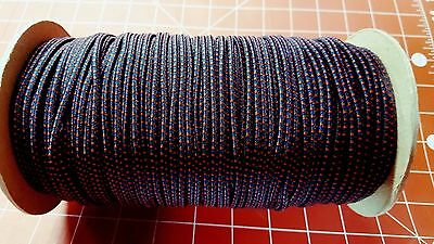"1/8"" Bungee Shock Cord Stretch Paracord Blue Red 10' 30"" 50' 100' You Choose"