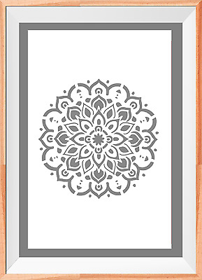 Mandala flower Pattern Fabric A4 Mylar Reusable Stencil Airbrush Painting Art