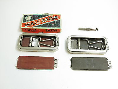2 Vintage 1920's Rolls Razor Blade Sharpeners 1 With The Original Box England