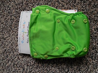 NWT Babykicks one size pocket cloth diaper