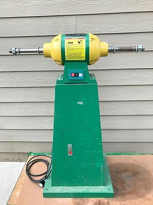 Woodtek® 120029 Pneumatic Drum Sander With Flap Sander With Stand