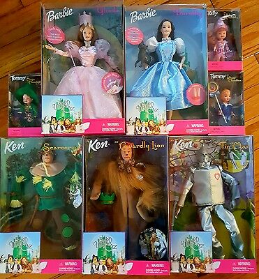 1999 Mattel THE WIZARD OF OZ Complete Set of 8 Dolls!! All NEW IN BOX!!