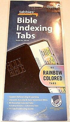 Tabbies Rainbow Colored Bible Indexing Tabs - Old & New Testament - NIP (#6)