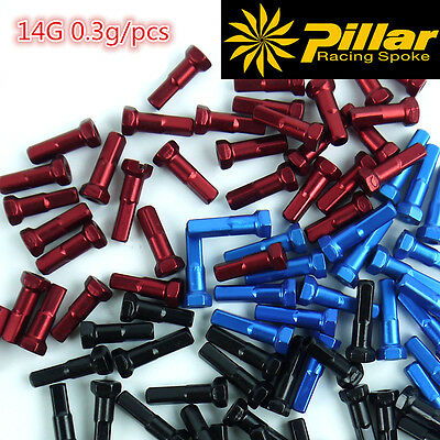50pcs Pillar 14G super light Aluminum 7075 Alloy 16mm 2.0 alloy spoke Nipple