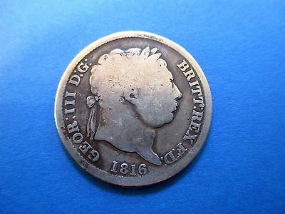 Great Britain Shilling 1816 Silver George III United Kingdom