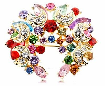 MOTHERS DAY GIFT BROOCH, Multicoloured Pin-on Brooch (FREE POSTAGE)