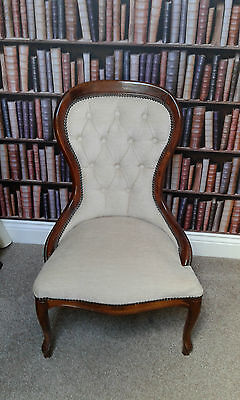 """Reproduction """"Victorian"""" Style Nursing Chair, 85cm high, seat height 30cm."""