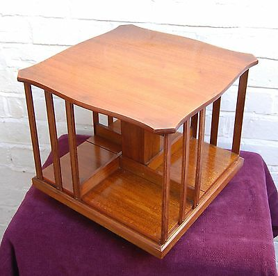 Beautiful Victorian antique Arts & Crafts revolving rotating library bookcase.