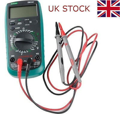 Universal Digital LCD Multimeter AC DC Auto Ammeter Voltage Current Tester Cable