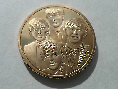 The Beatles Coin Round/medallion commemorative free uk post