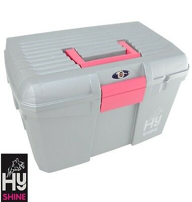 HySHINE Tack Box - SILVER – Mounting Step/Carry Grooming Kit – FREE P&P