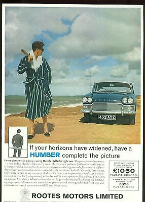 Humber Super Snipe Colour Magazine Advert