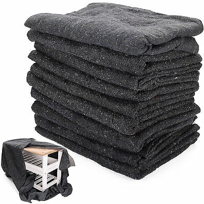 10 x Premium Removal Blankets Furniture Moving Packing Transit 200cm x 150cm