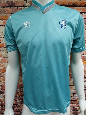 Rare Mens Chelsea Football Shirt 1987 Umbro Away Top