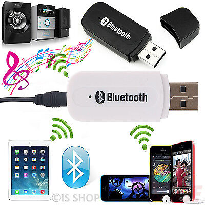 USB Bluetooth Audio Receiver Adapter Wireless Music 3.5mm Jack Dongle AUX Car