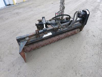 "Harley TG018 SSL Rake, SSL Quick Attach, Power Rake, Hydraulic Angle, 72"" Wide"