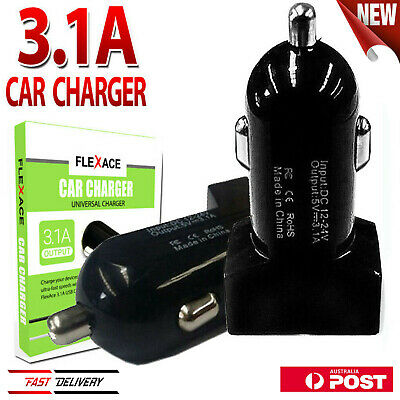 Universal 2 Port USB Car Charger Adapter for Apple Samsung HTC Huawei Smartphone